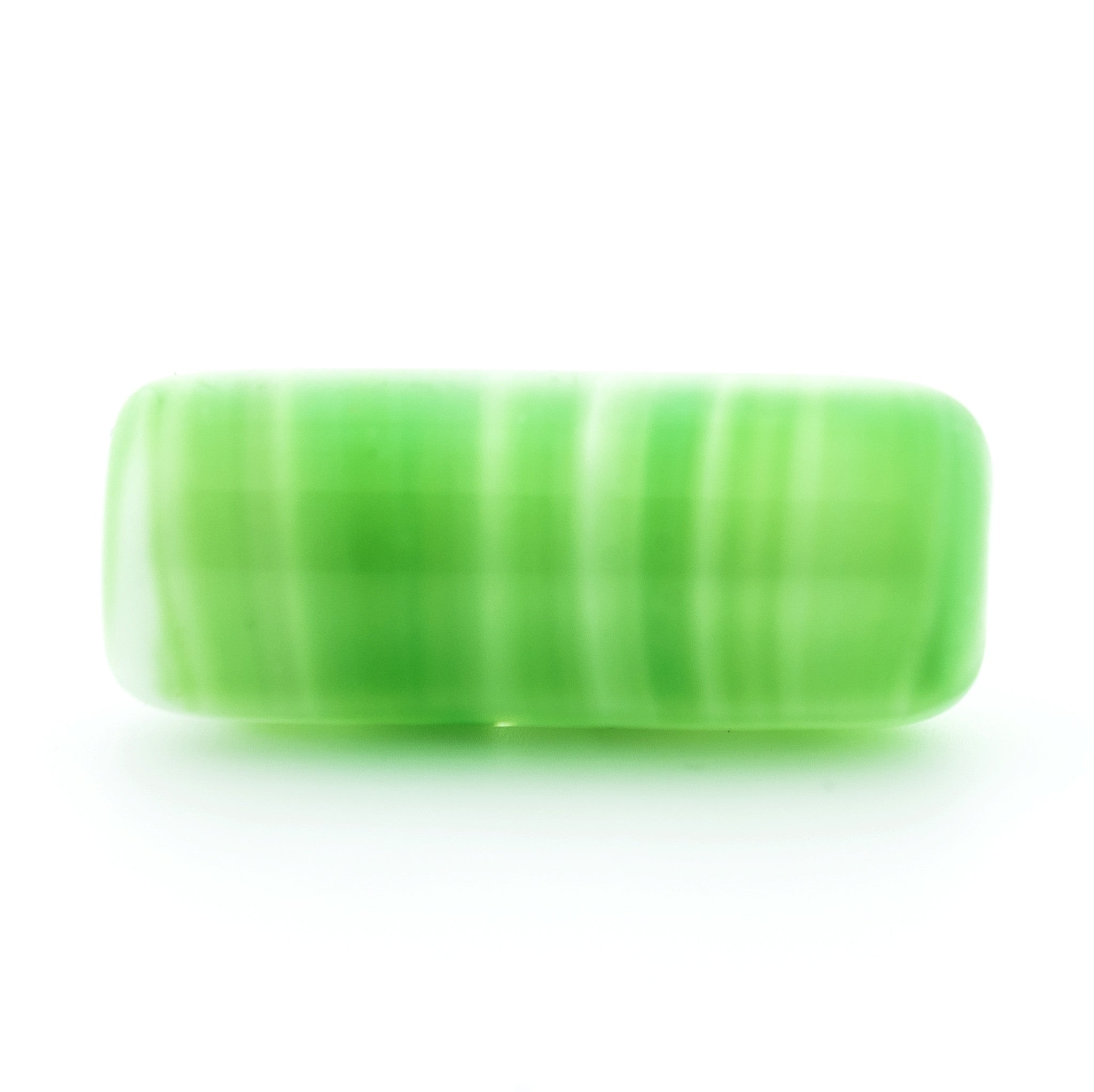 15X6MM Green Glass Tube Bead (72 pieces)