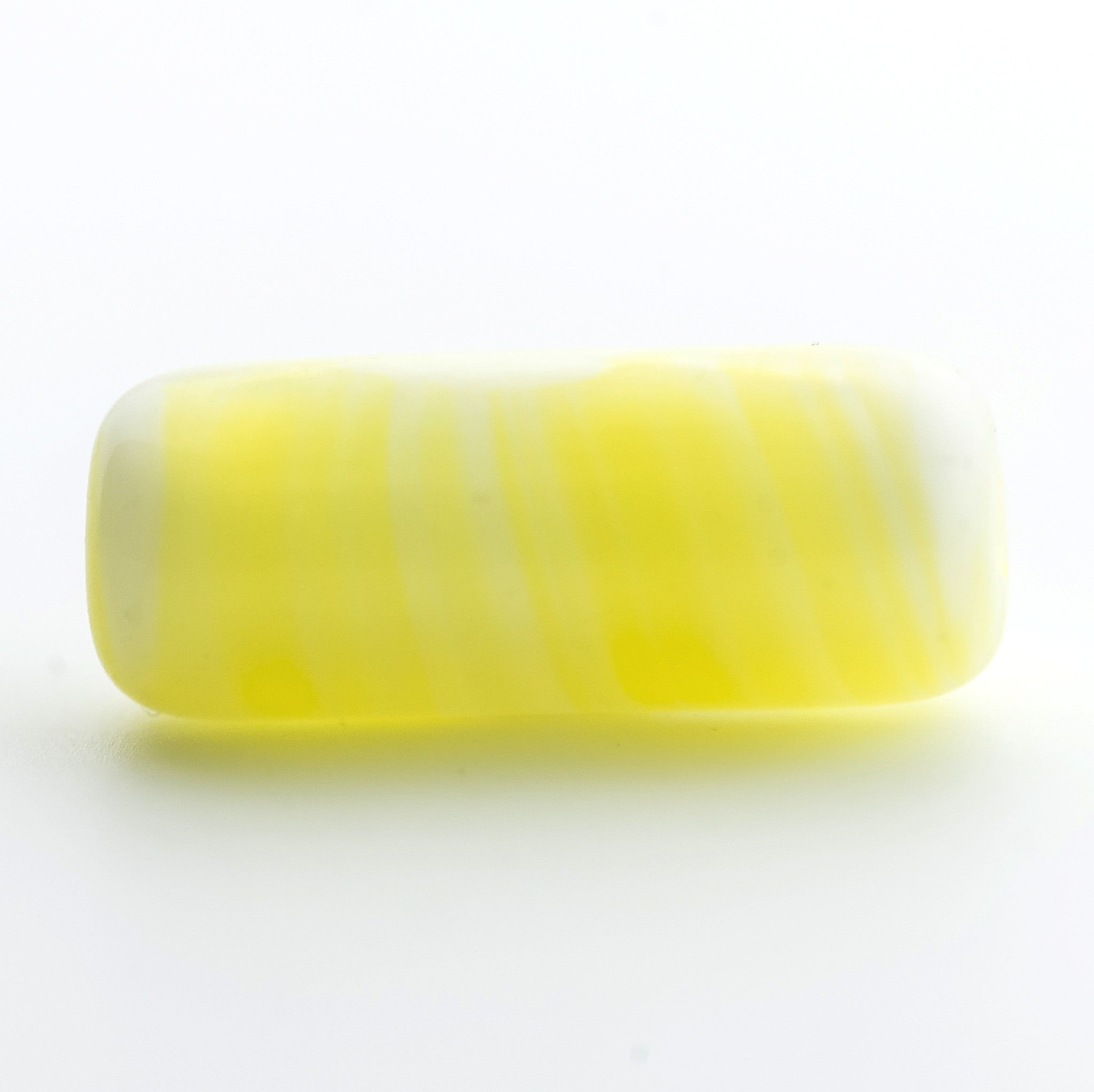 15X6MM Yellow Glass Tube Bead (72 pieces)