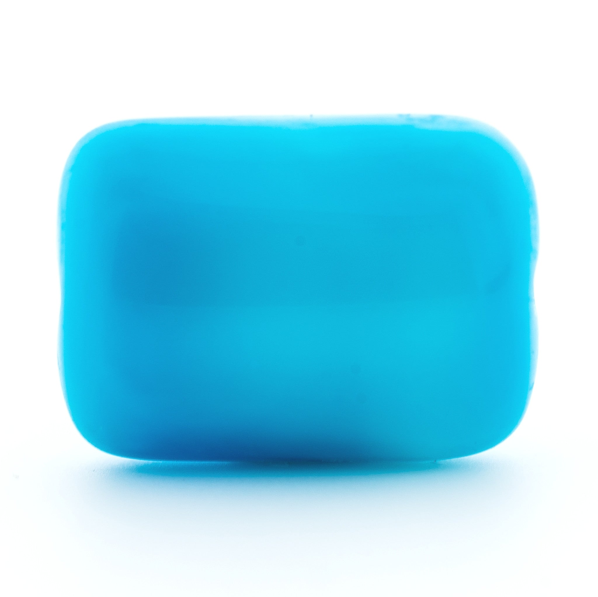14X10MM Aqua Glass Rectangle Bead (36 pieces)