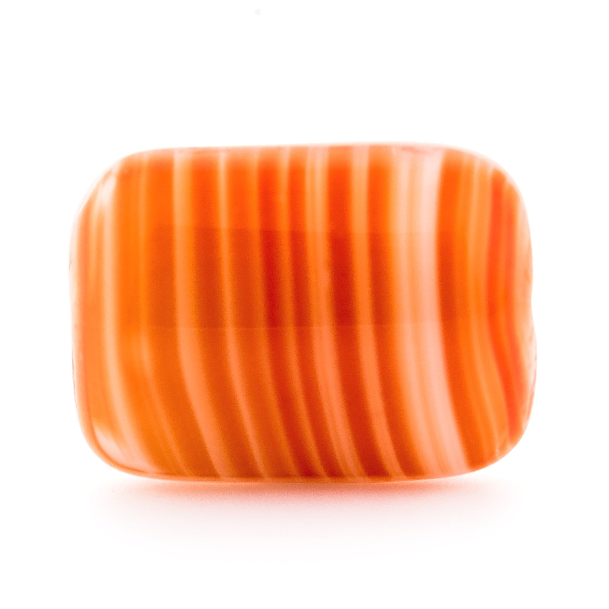 14X10MM Orange Glass Rectangle Bead (36 pieces)