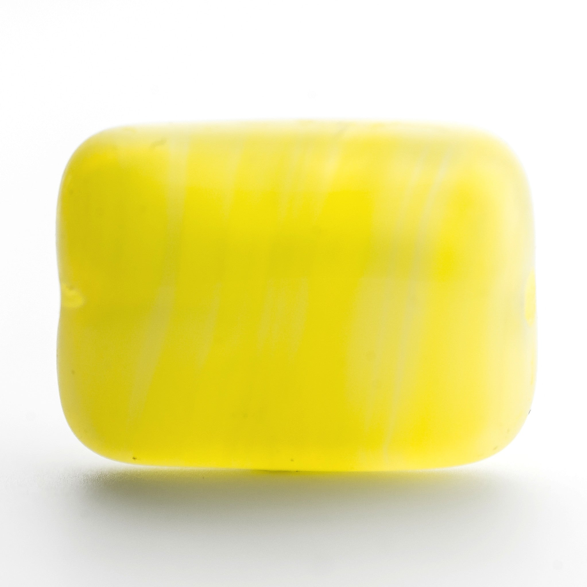 14X10MM Yellow Glass Rectangle Bead (36 pieces)