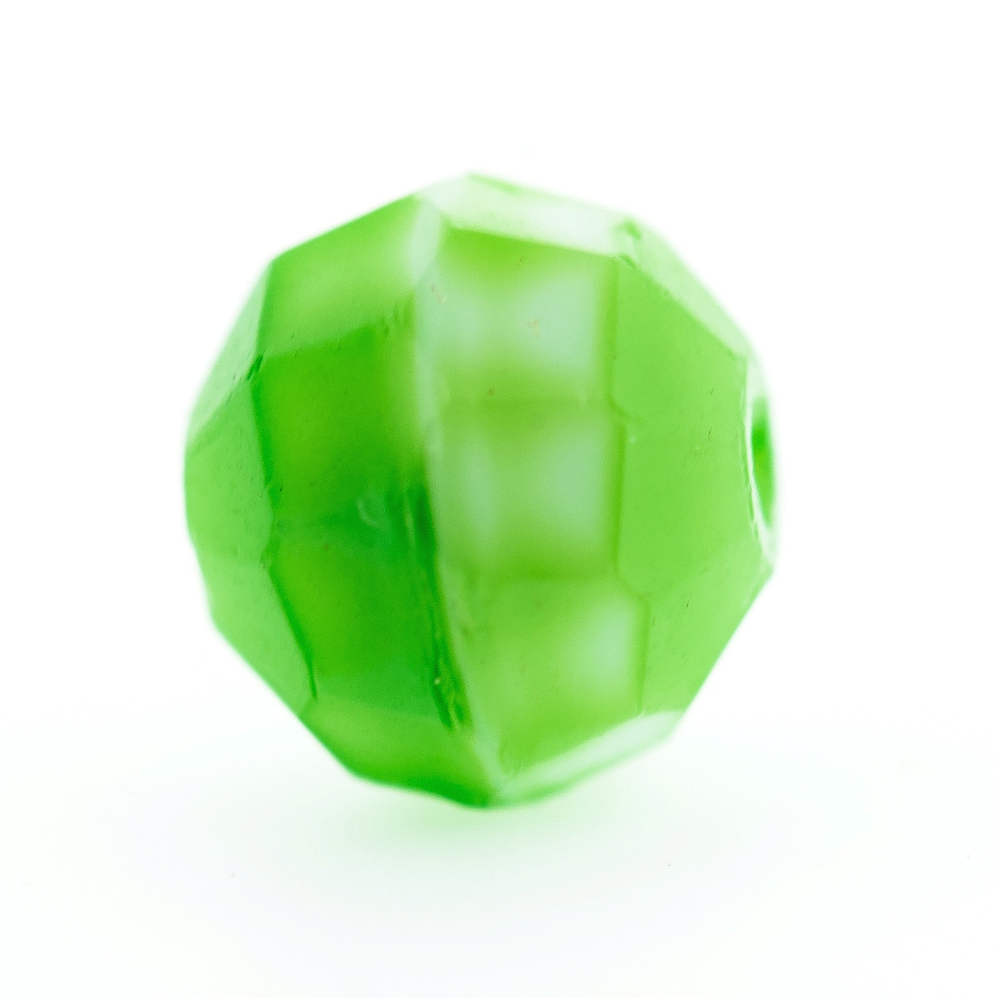 8MM Green Faceted Glass Bead (72 pieces)