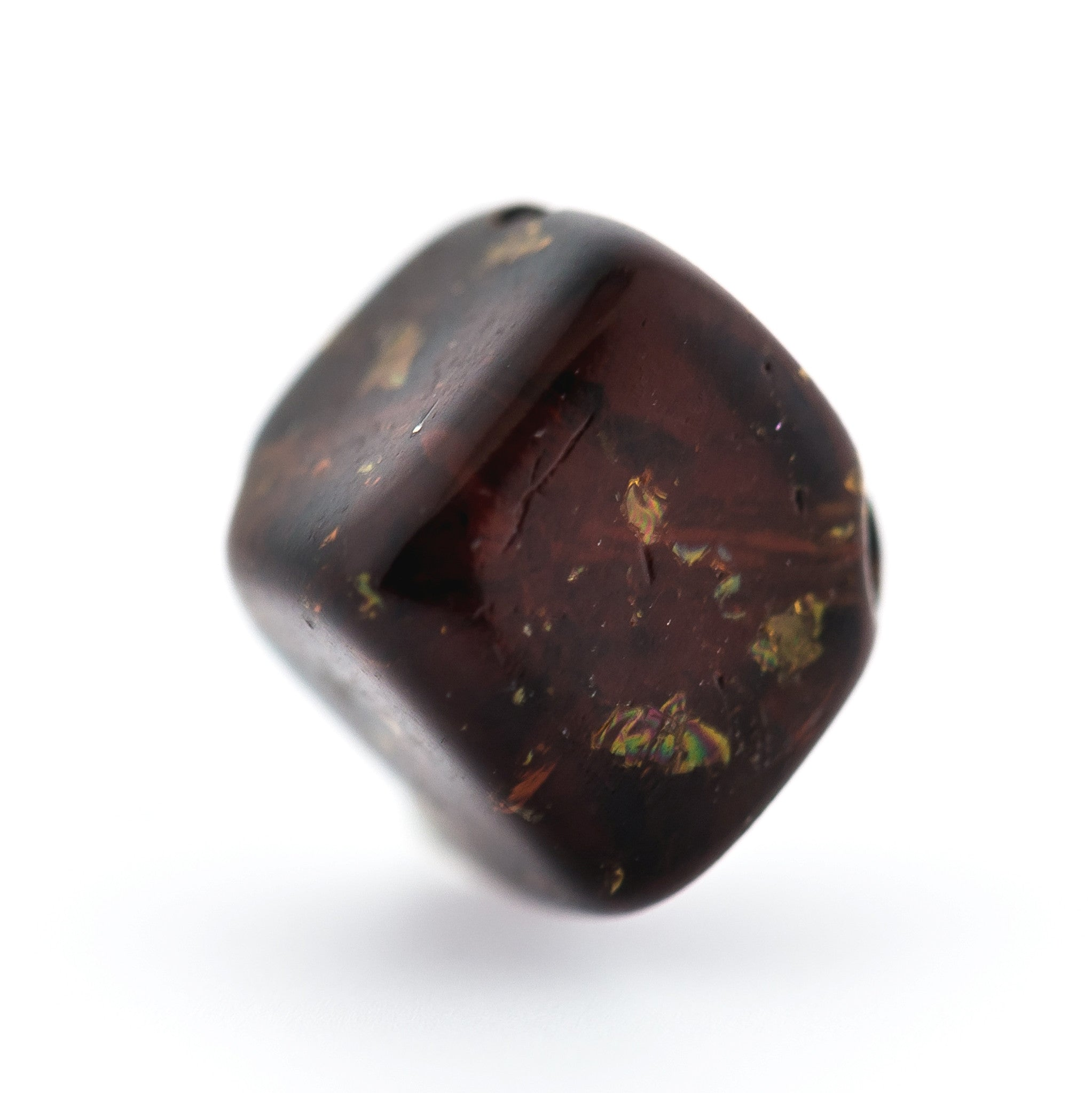 6MM Smoke Topaz Crackle Glass Cube Bead (144 pieces)