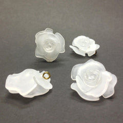22MM Crystal Mat Flower Drop (12 pieces)