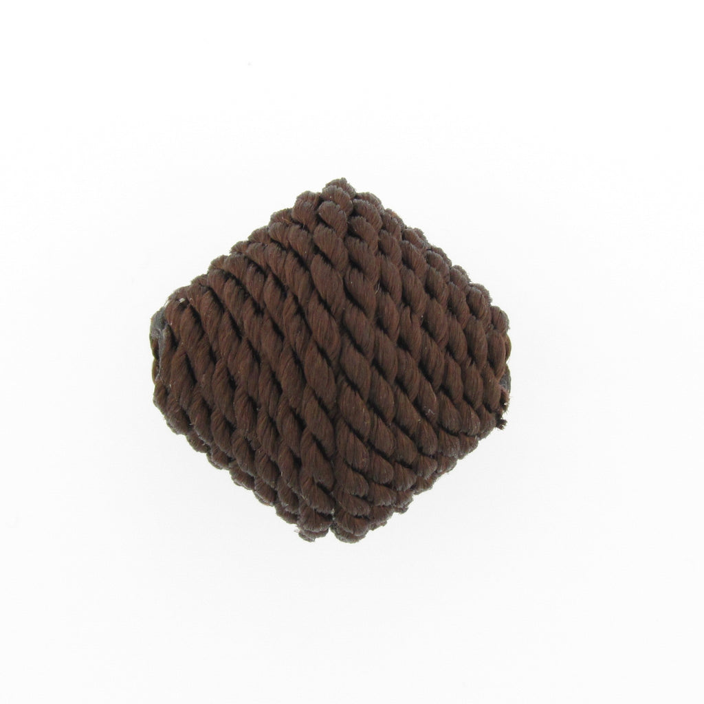 23MM Brown Corded Pyramid Bead (2 pieces)