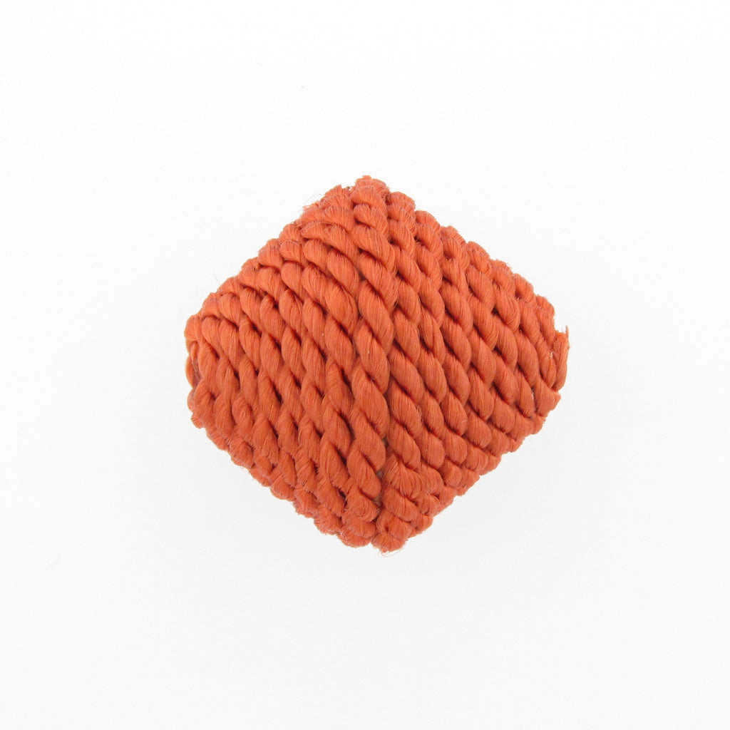23MM Rust Corded Pyramid Bead (2 pieces)