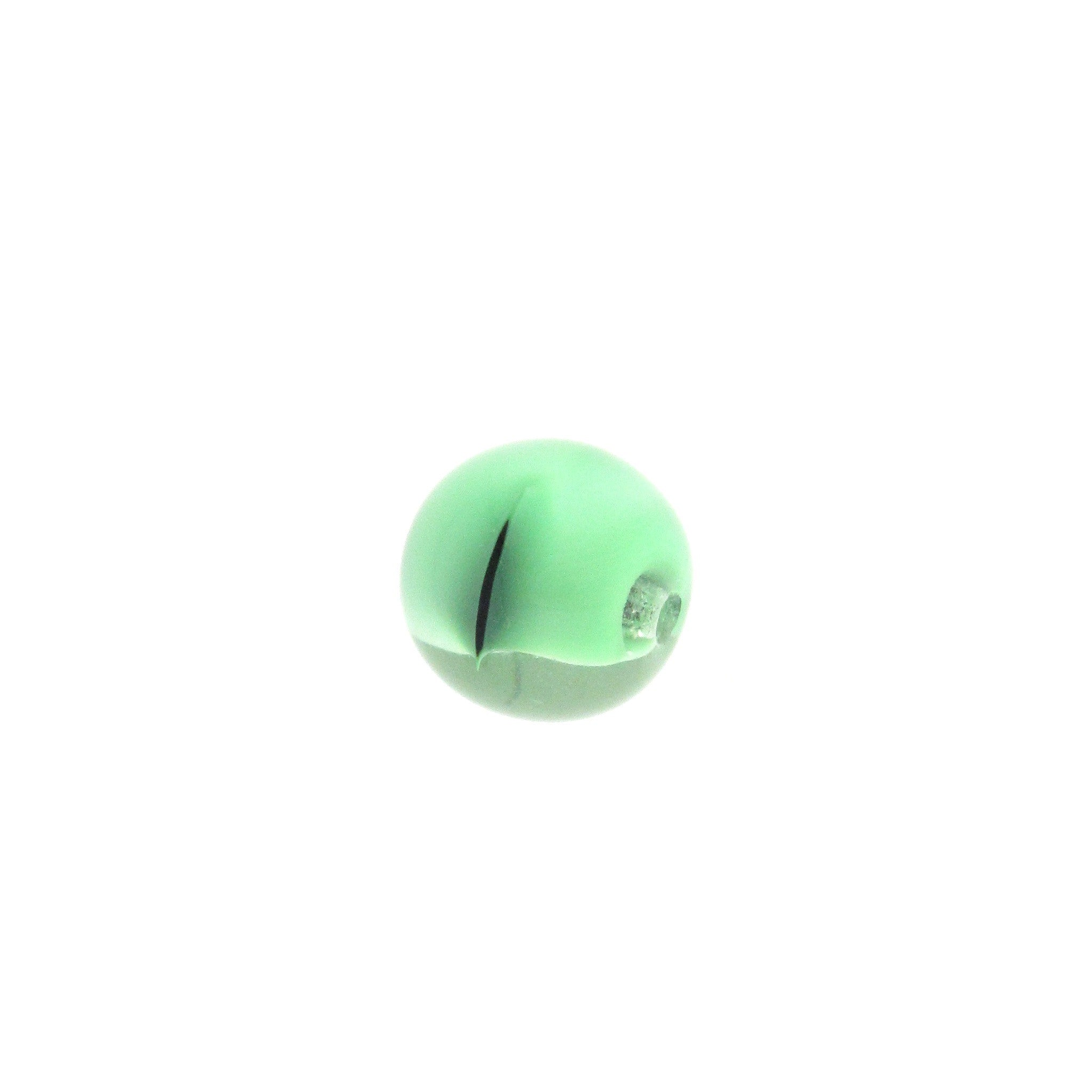 12MM Green Givre Glass Bead (36 pieces)