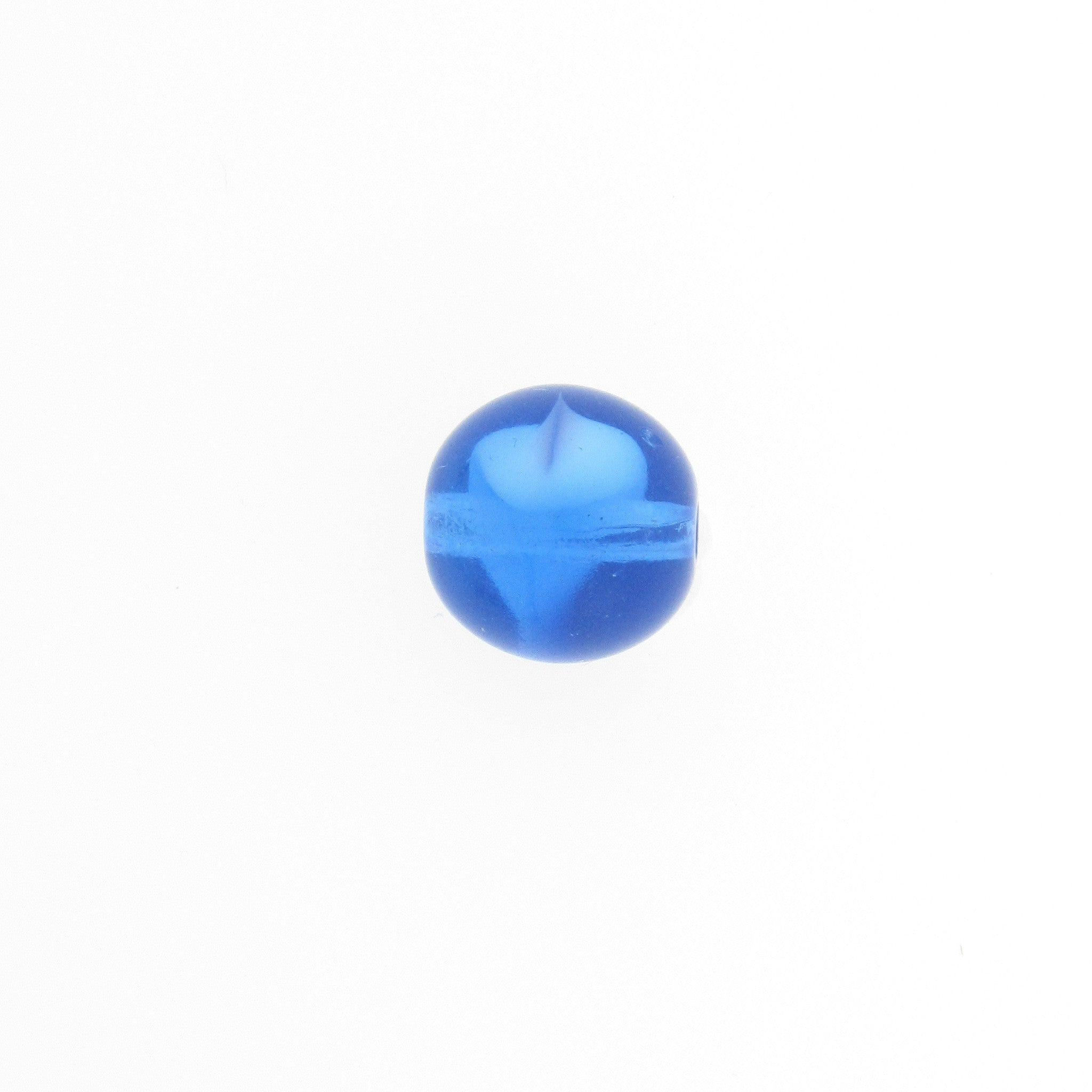 12MM Sapphire Givre Glass Bead (36 pieces)