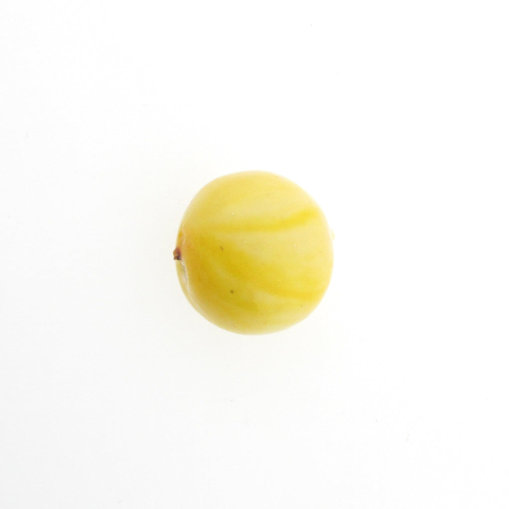 18MM Ivory/Yellow Paper Mache Bead (12 pieces)