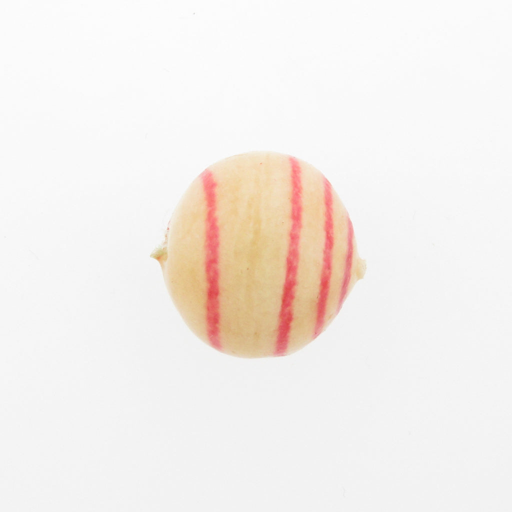 20MM Pink Stripe Papermache Bead (12 pieces)