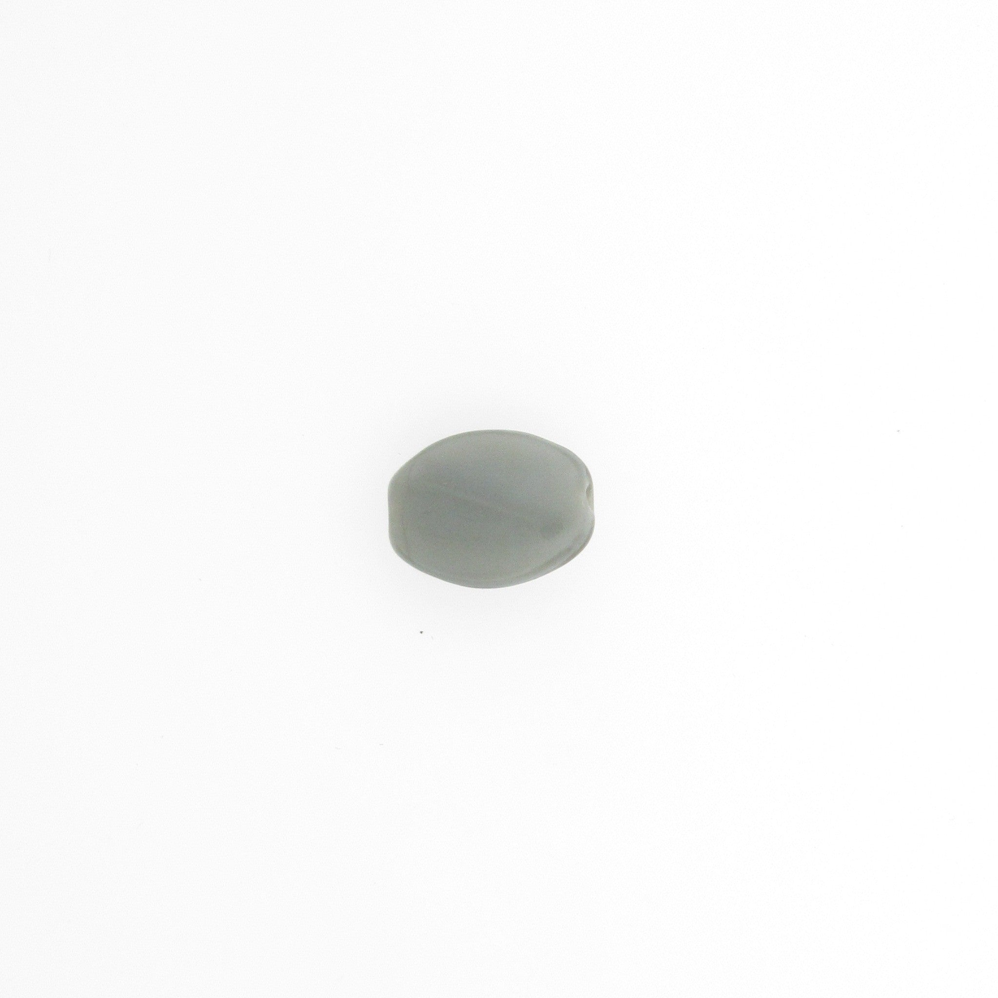 Grey Glass Oval Bead (72 pieces)