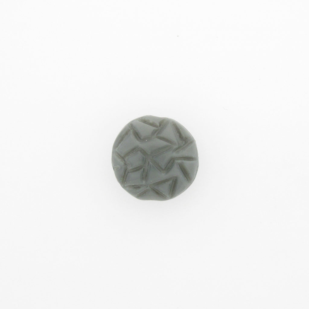 12MM Grey Glass Fancy Disc Bead (36 pieces)