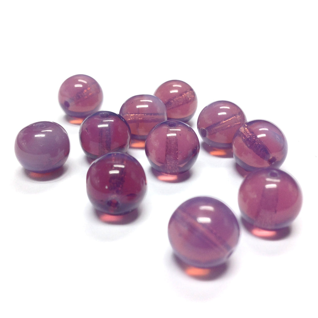 10MM Amethyst Opal Glass Round Bead (36 pieces)