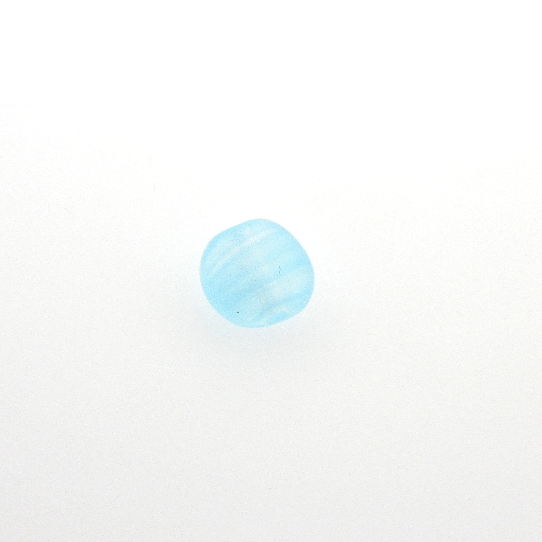 8MM Aqua Quartz Glass Disc Bead (72 pieces)