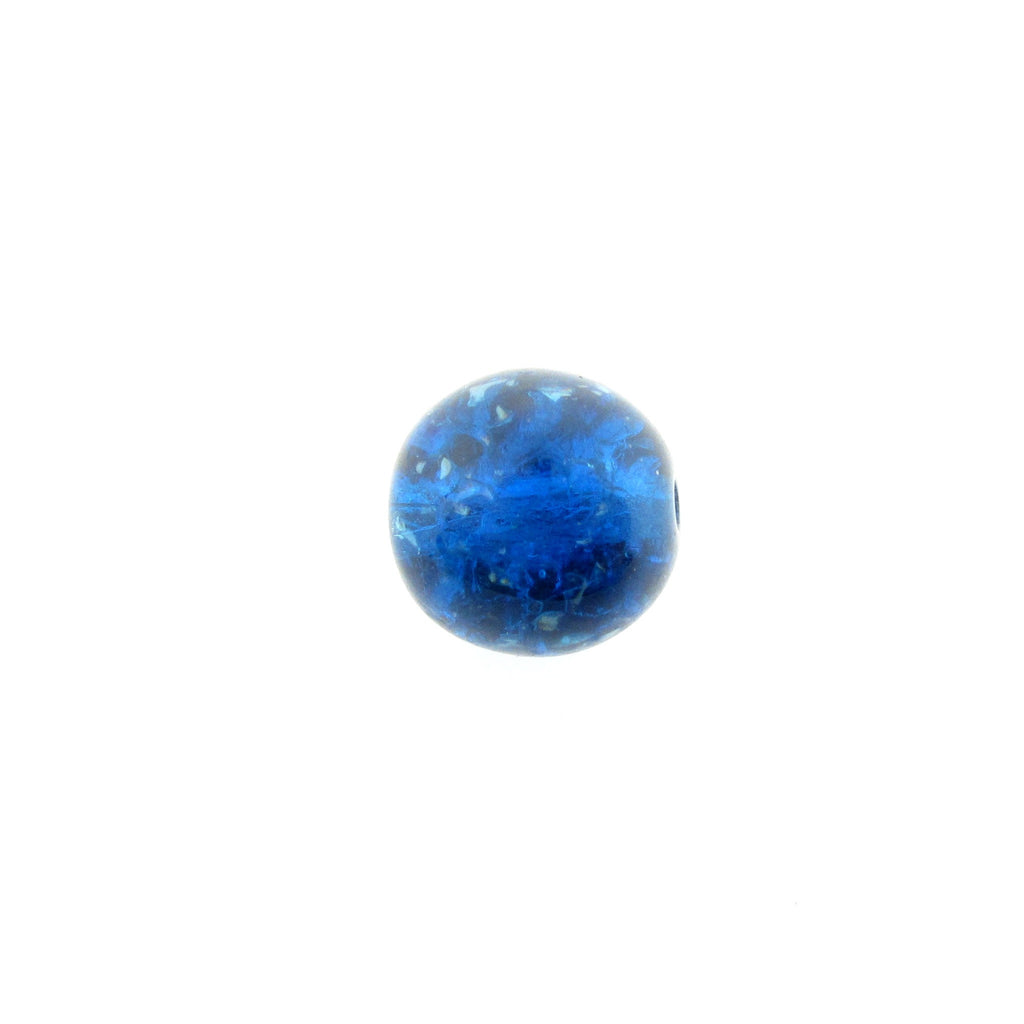 10MM Blue Round Glass Bead (36 pieces)