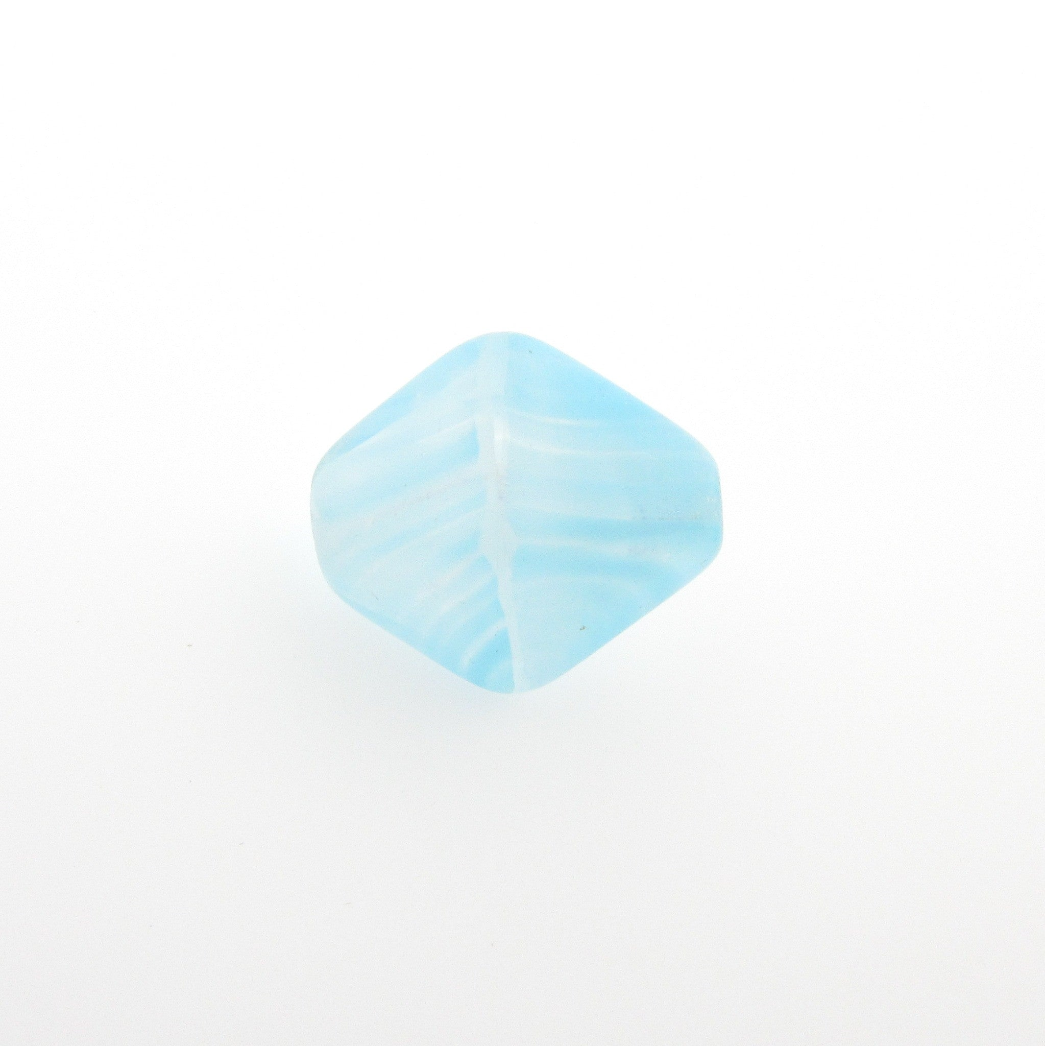 Aqua Quartz Glass Pyramid Bead (36 pieces)