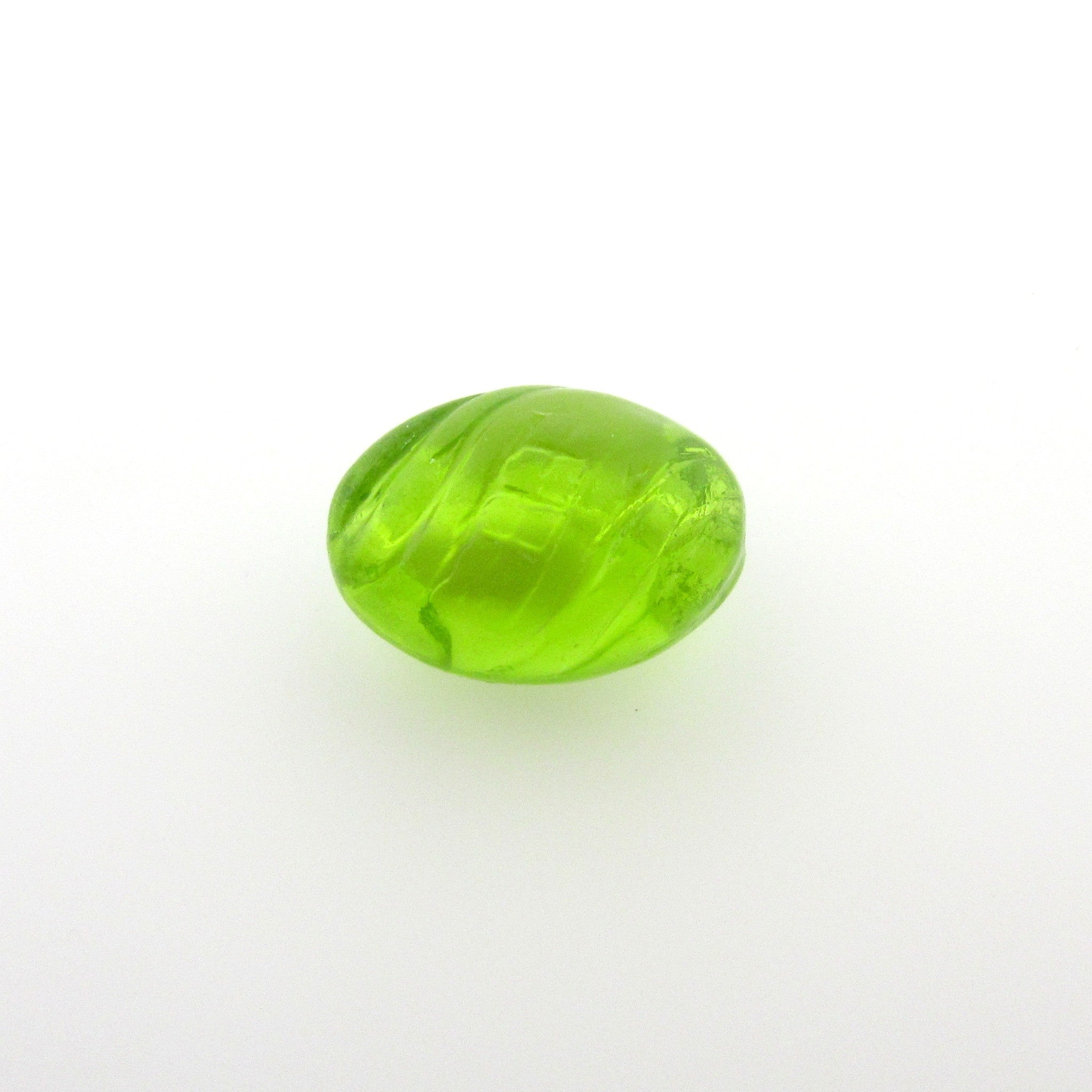Fancy Green Oval Glass Bead (36 pieces)
