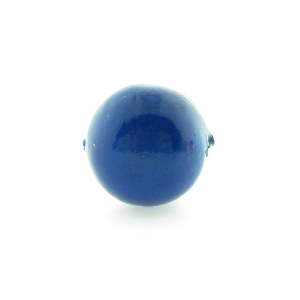 20MM Royal Blue Paper Mache Bead (12 pieces)