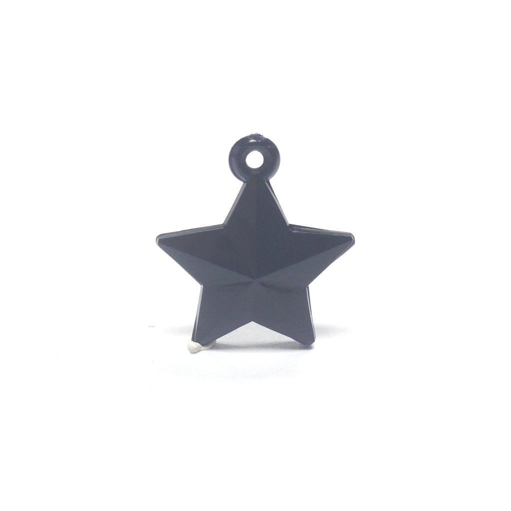 20MM Black Faceted Star Drop (36 pieces)
