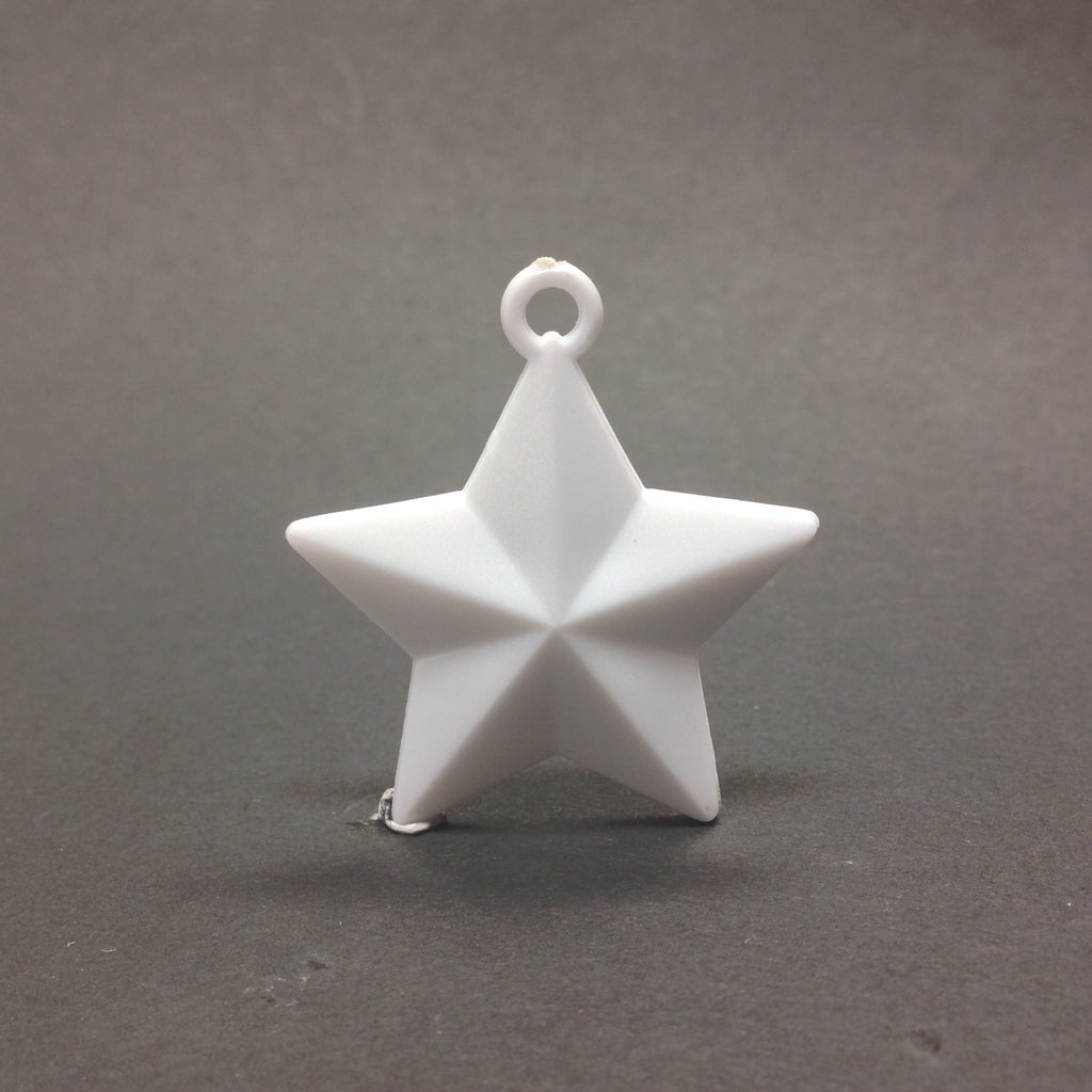 30MM White Faceted Star Drop (36 pieces)
