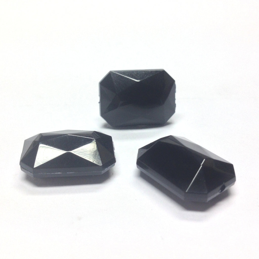 25X18MM Black Rectangle Bead (36 pieces)