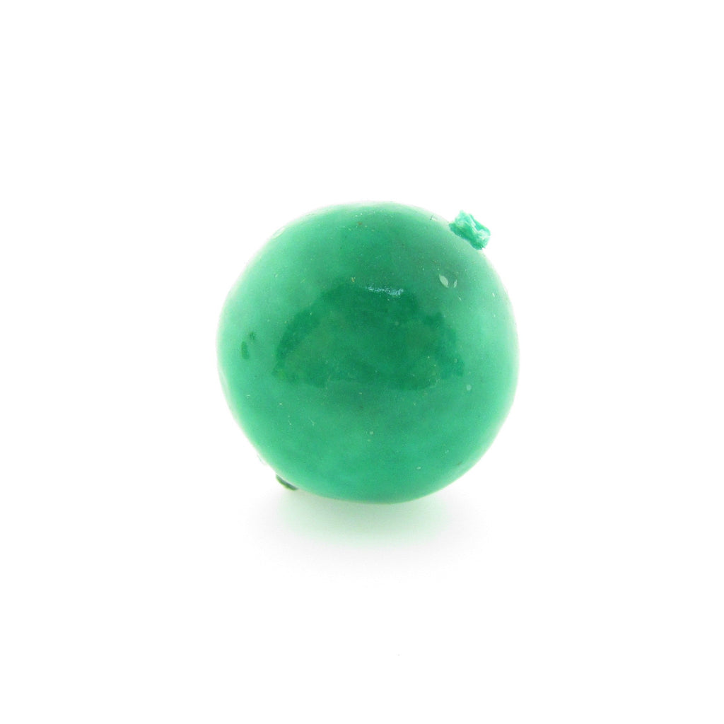 15MM Green Paper Mache Bead (12 pieces)