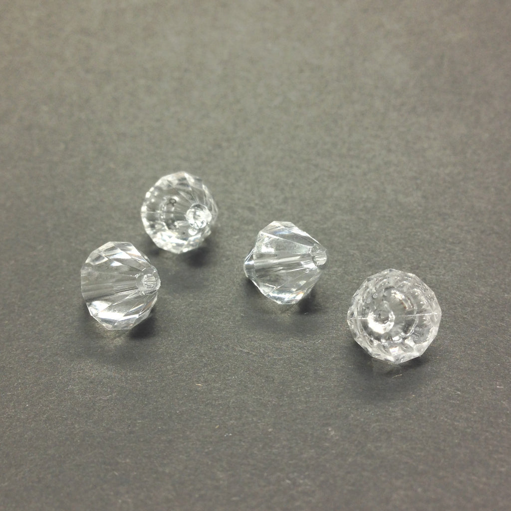 10MM Crystal Faceted Pyramid Bead (100 pieces)