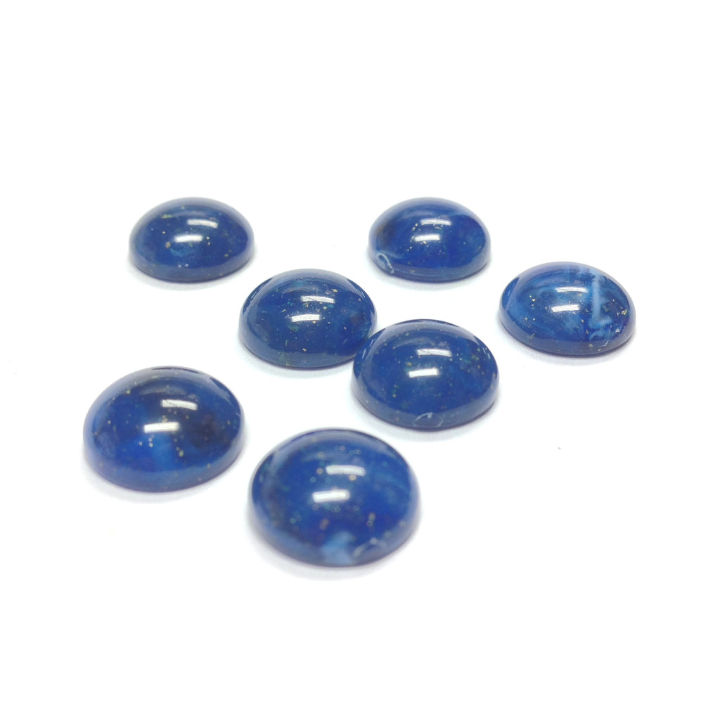 3MM Lapis Cab w/Gold Fleck (300 pieces)