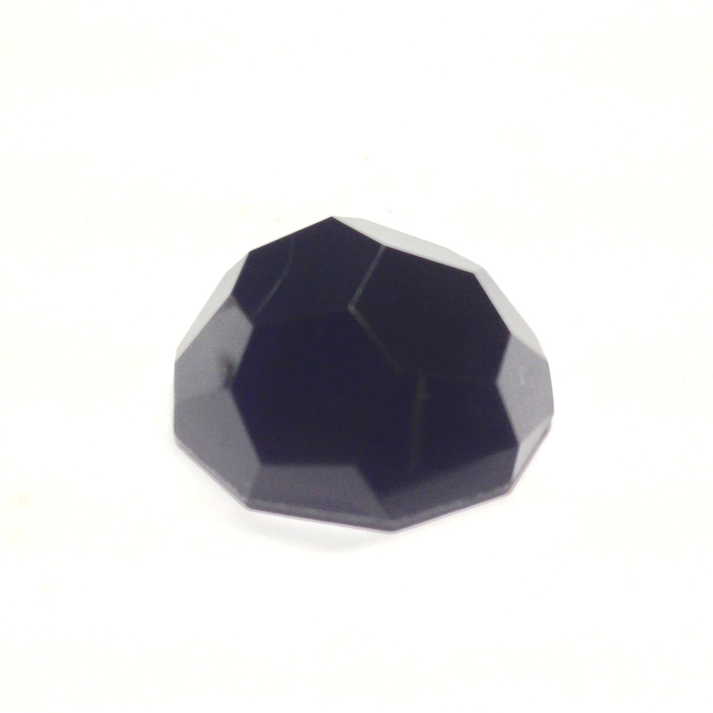 25MM Black Faceted Cab (24 pieces)