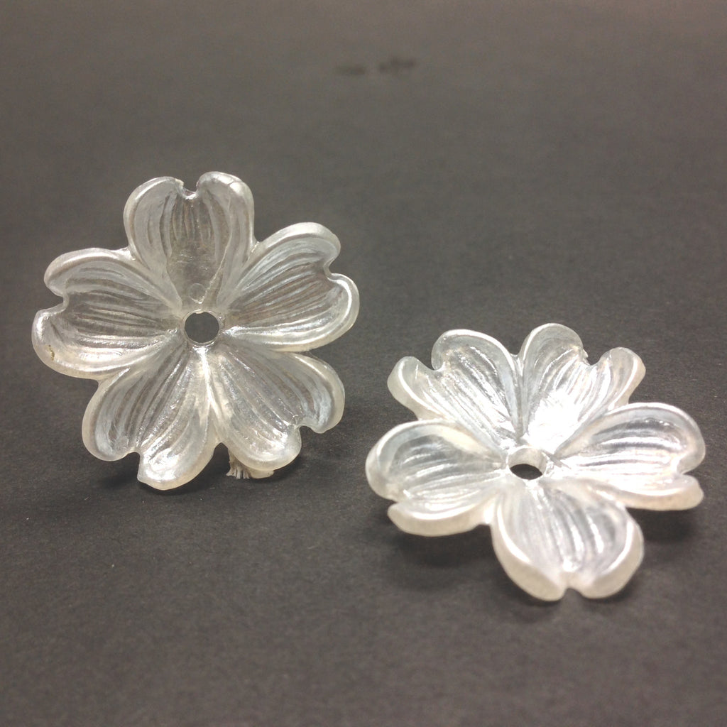 23MM White Pearl Flower Bead (36 pieces)