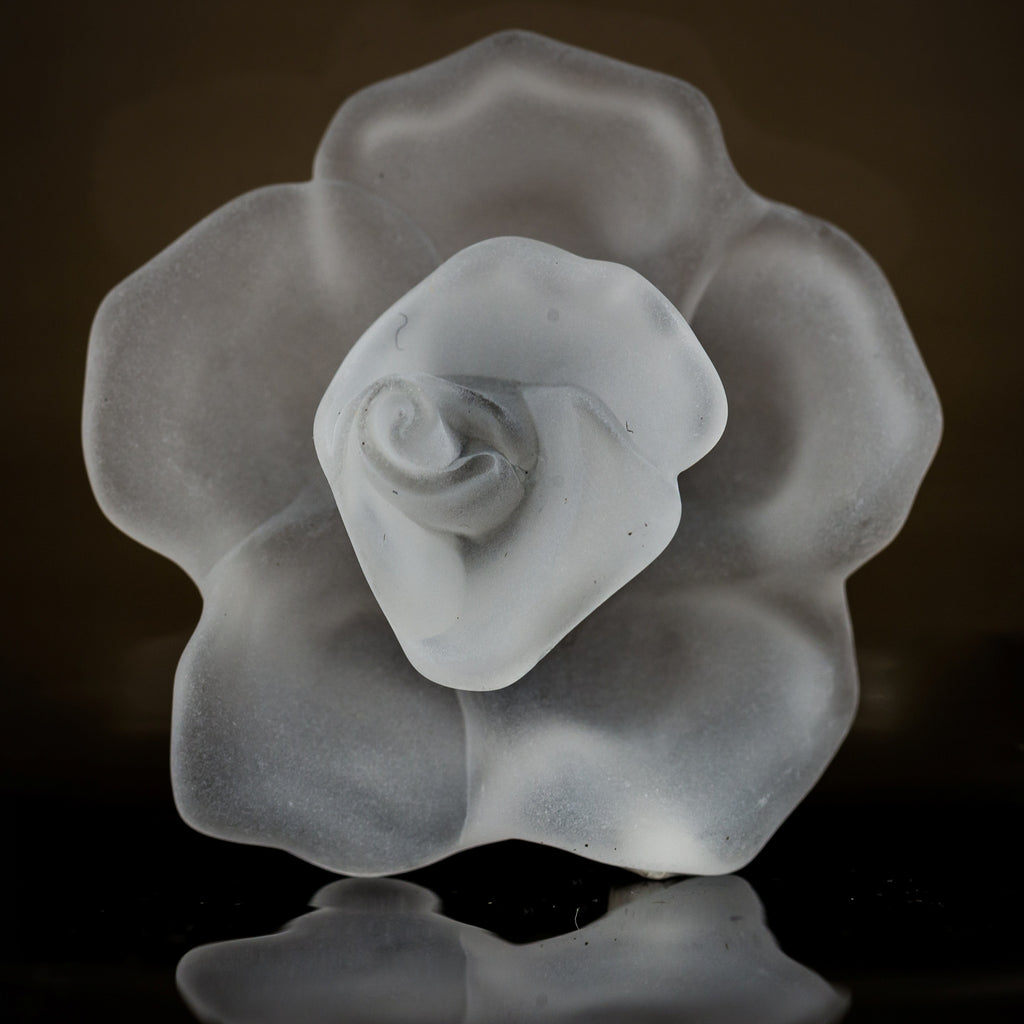 53MM Crystal Mat Flower Cab (6 pieces)