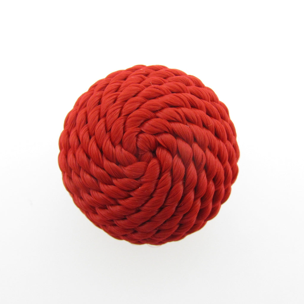 22MM Red Corded Cabechon (2 pieces)
