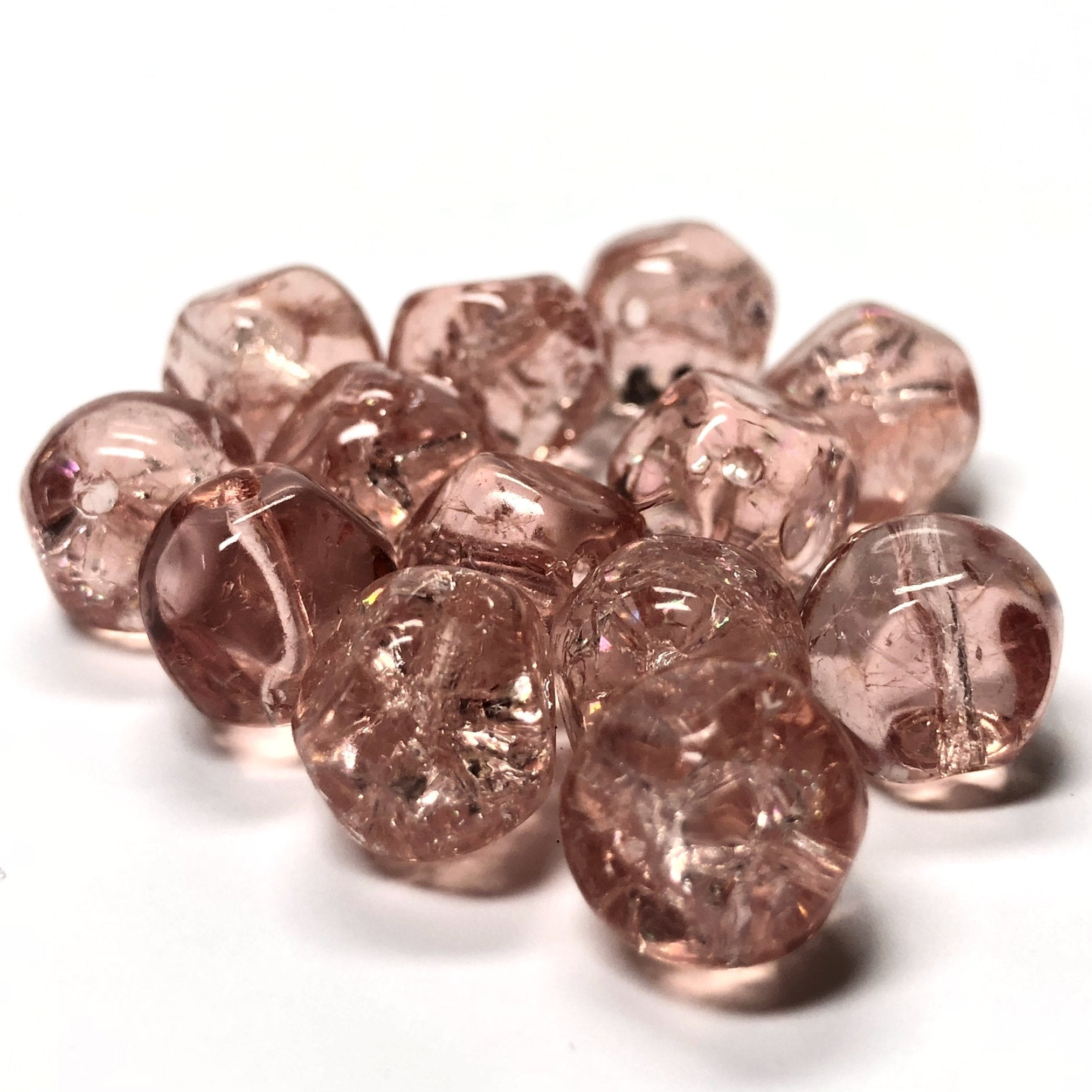 10MM Pink Glass Nugget Bead (36 pieces)