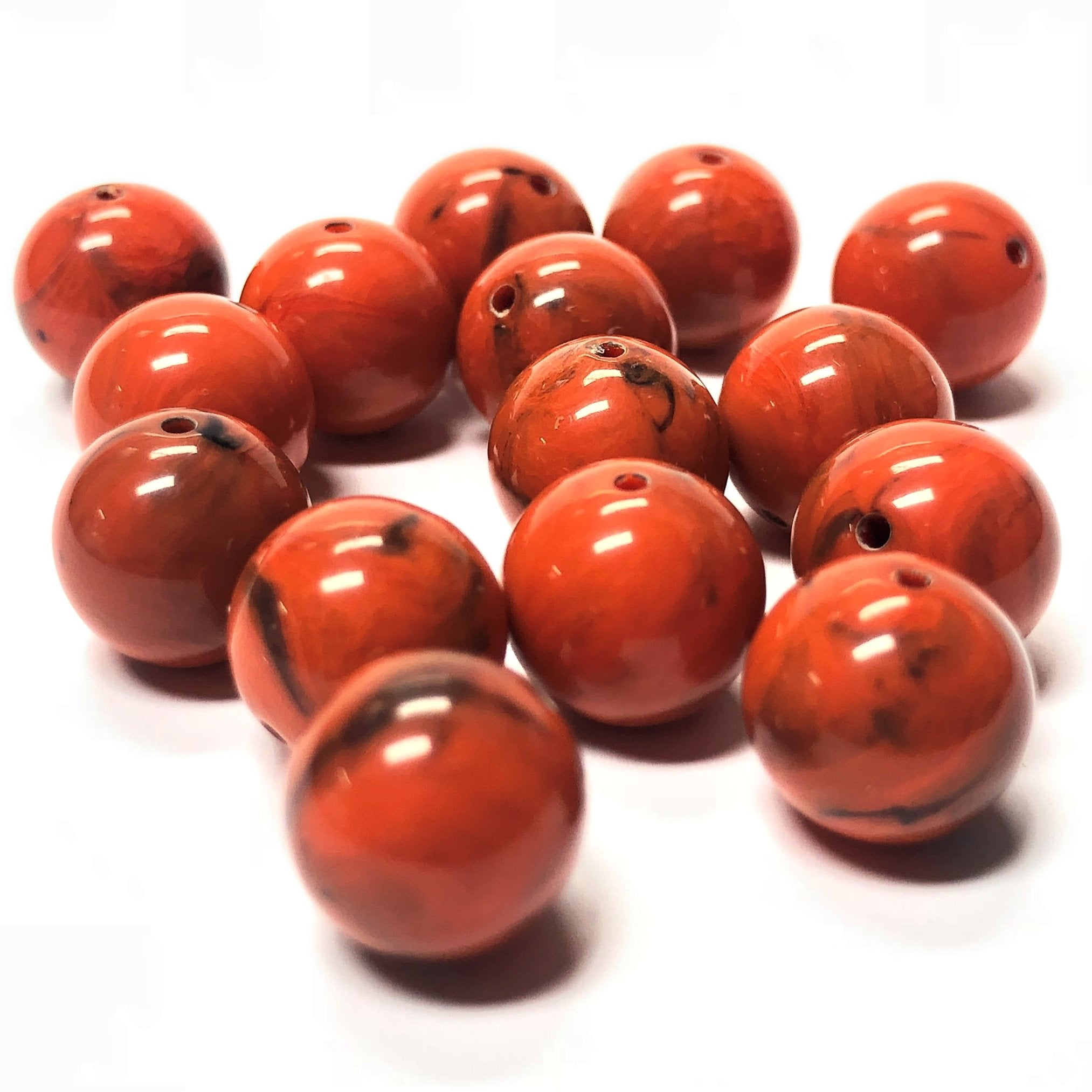 12MM Coral Matrix Color Round Acrylic Bead (144 pieces)