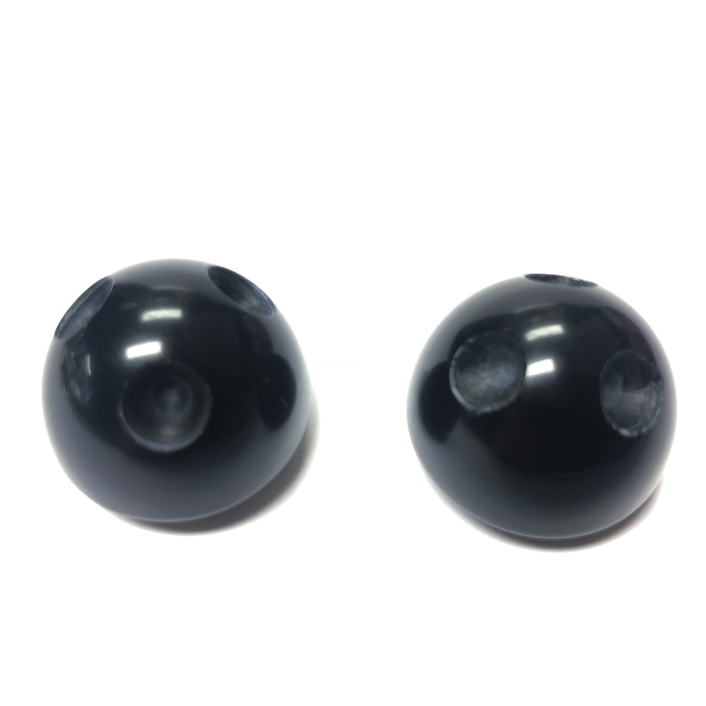 24MM Black Button (For S29 Stones) (6 pieces)