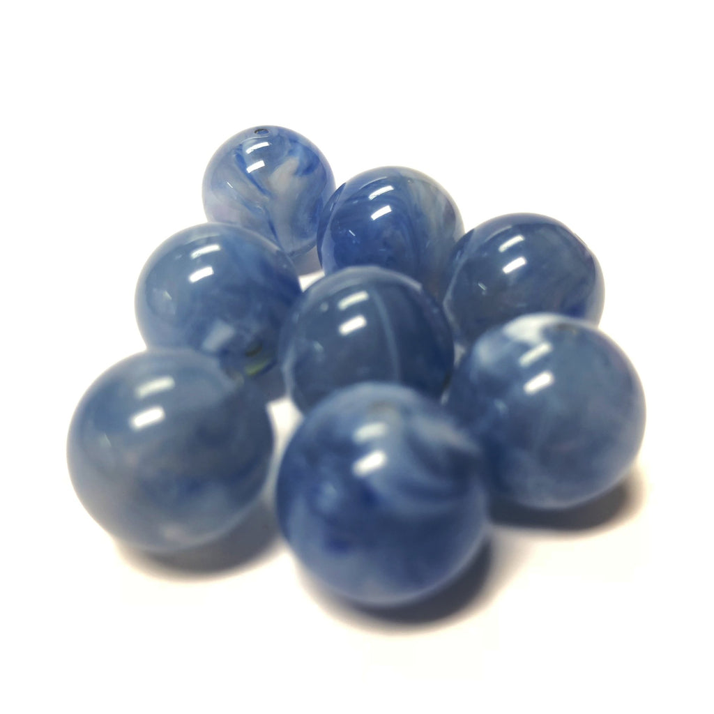 "10MM Blue ""Agate"" Acrylic Beads (144 pieces)"