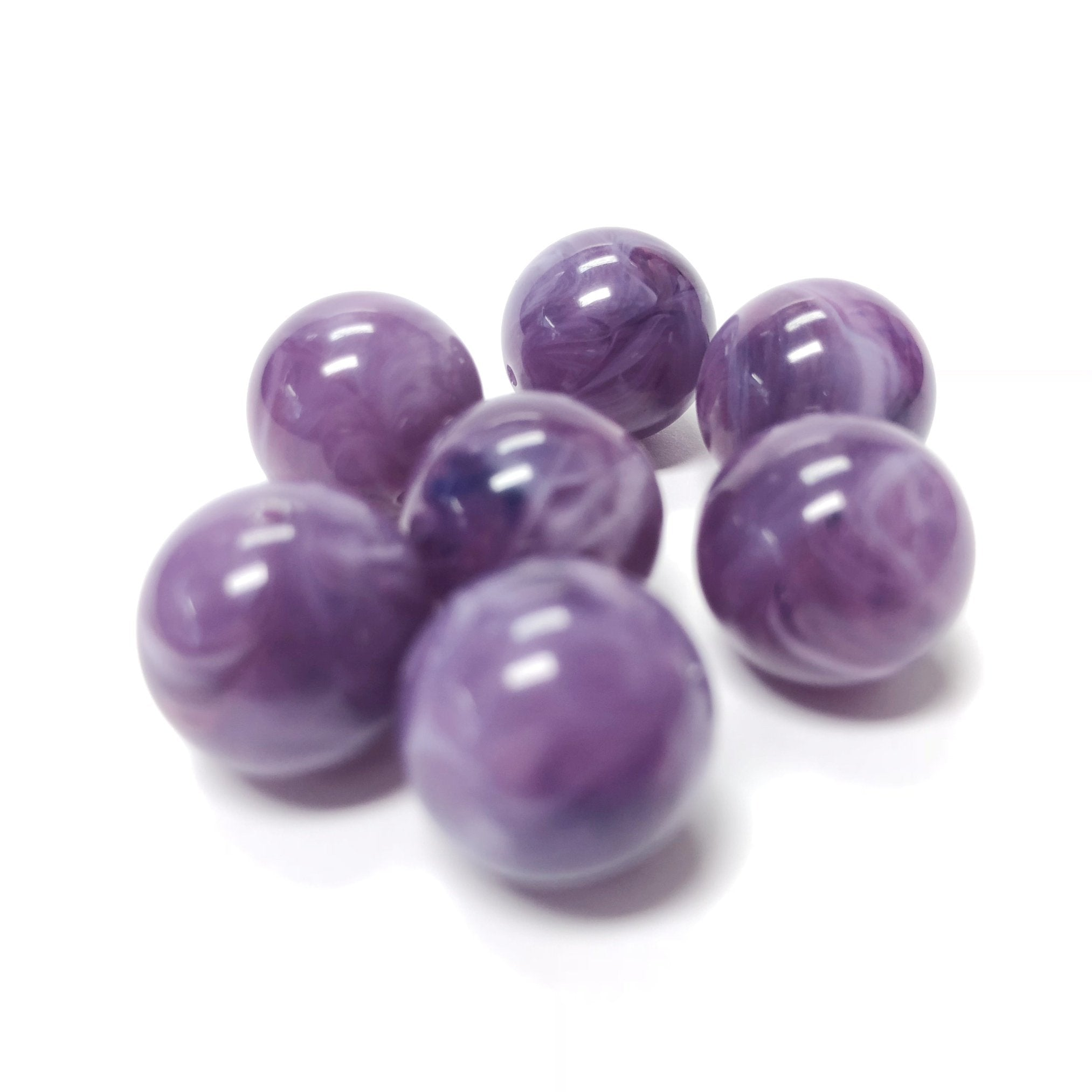 "8MM Lilac ""Agate"" Acrylic Beads (200 pieces)"