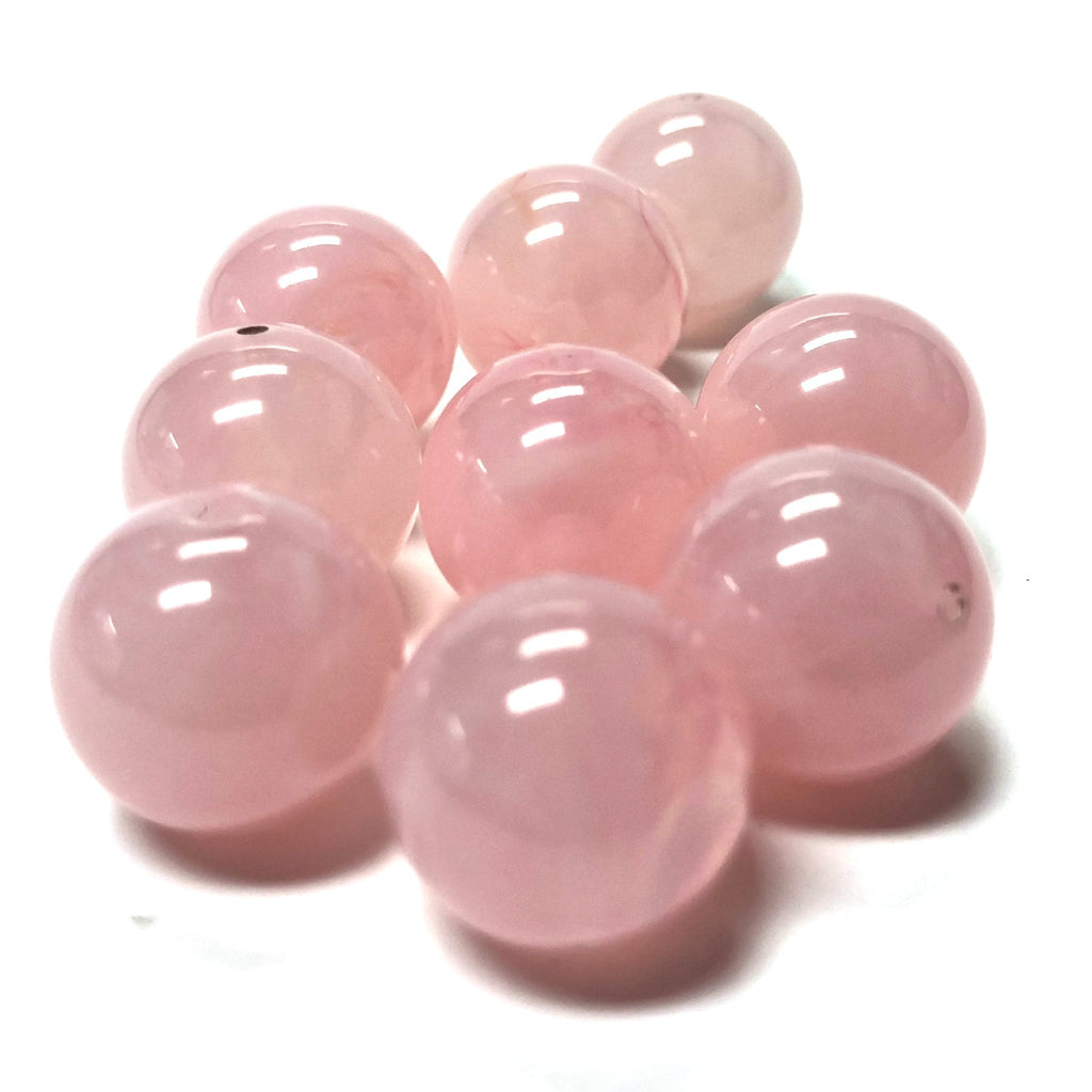 "8MM Pink ""Agate"" Acrylic Beads (200 pieces)"