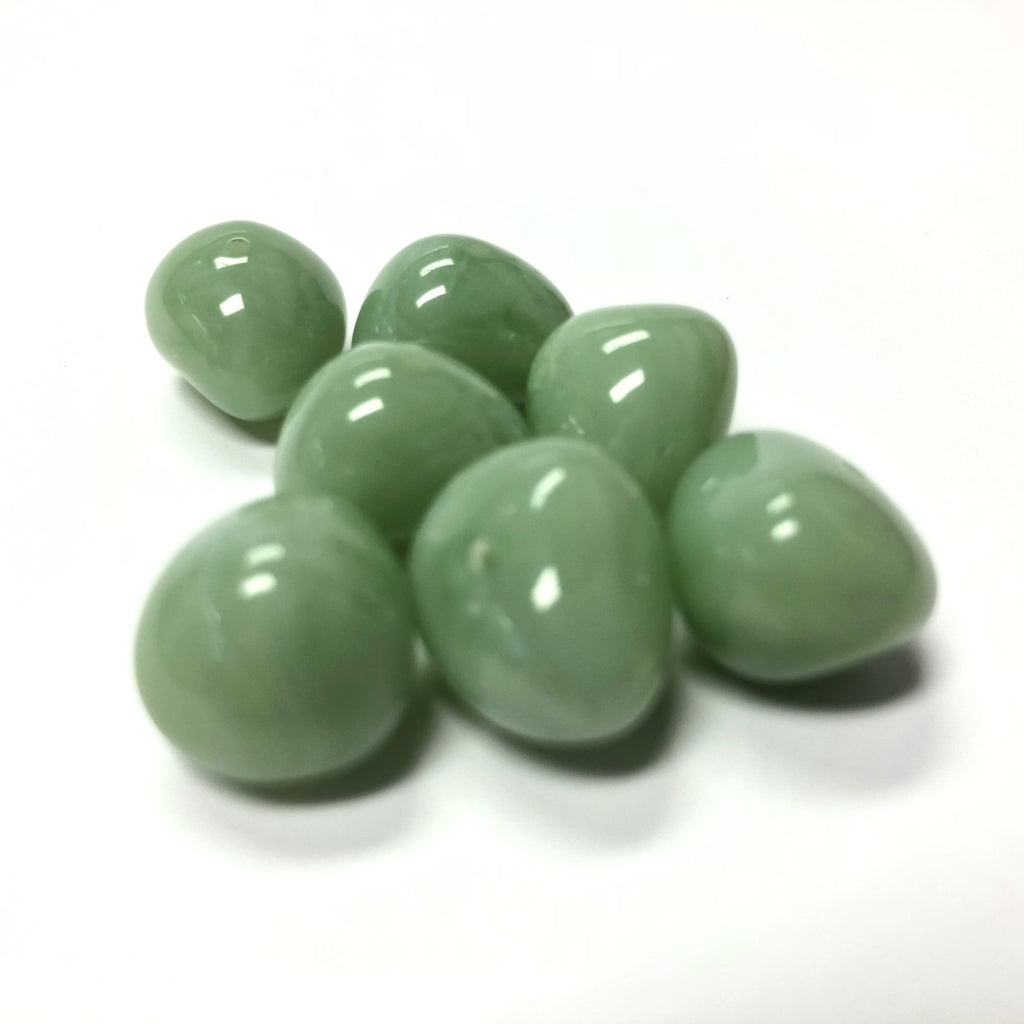"10X12MM Green ""Agate"" Nugget Acrylic Bead (72 pieces)"