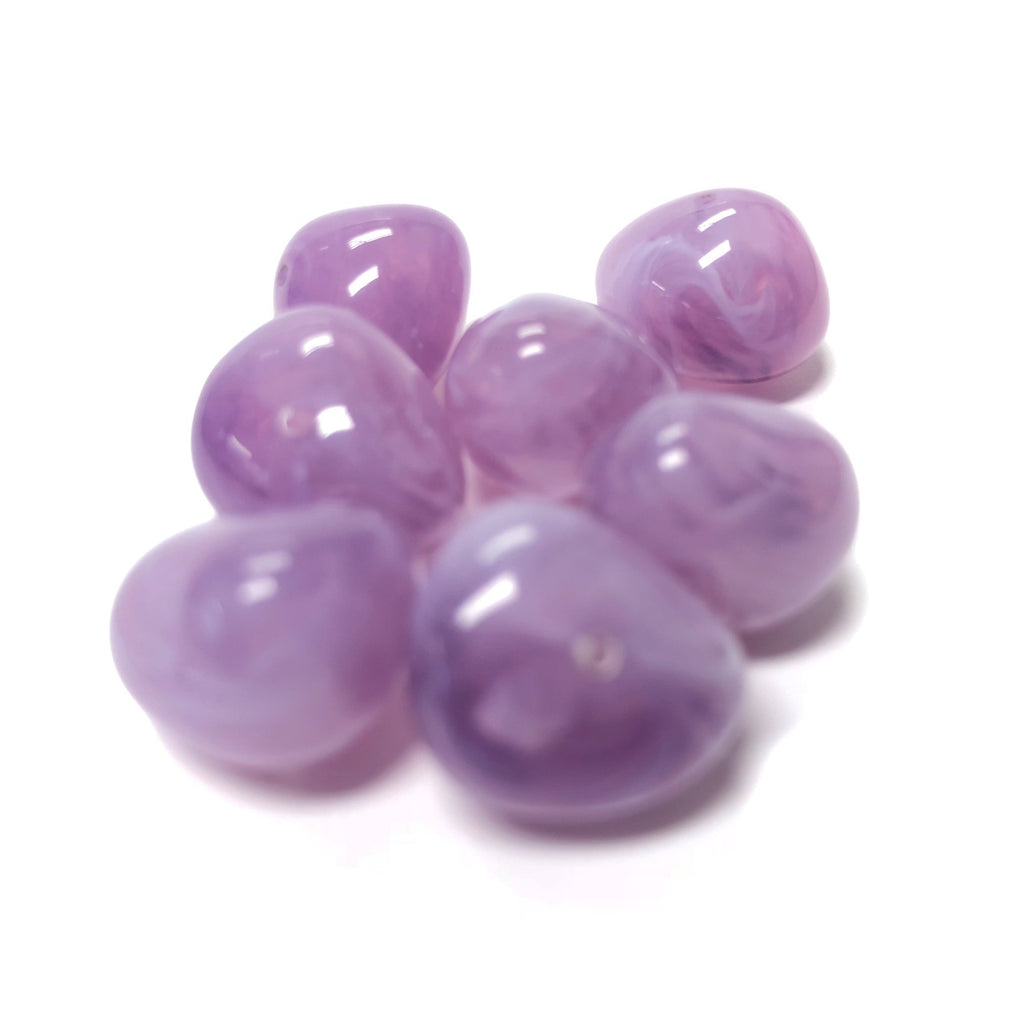 "8X9MM Lilac ""Agate"" Nugget Acrylic Bead (72 pieces)"