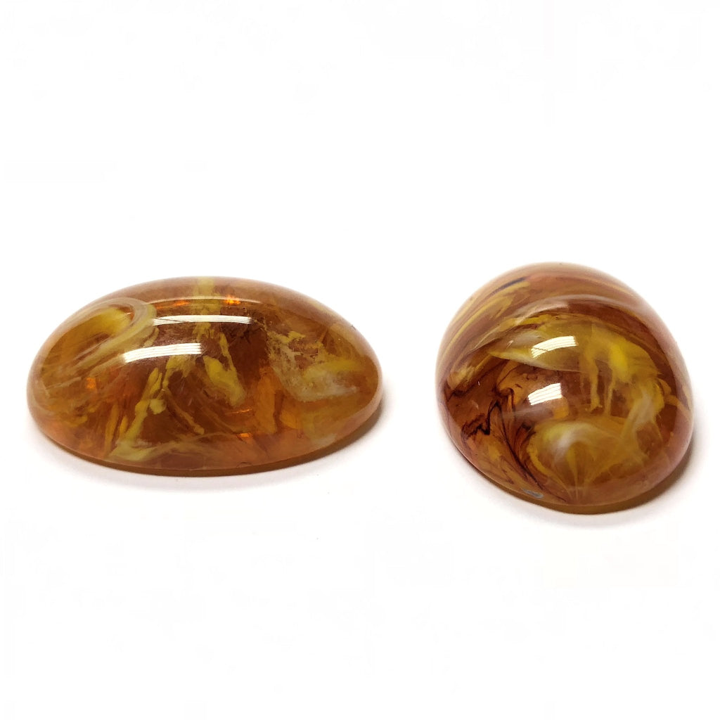 25X18MM Topaz Givre Oval Acrylic Cab (24 pieces)