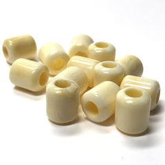 "10X8MM ""Ivorine"" 3.8MM Large Hole Tube Acrylic Bead (72 pieces)"