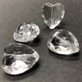 15MM Crystal Faceted Heart Acrylic Bead (36 pieces)