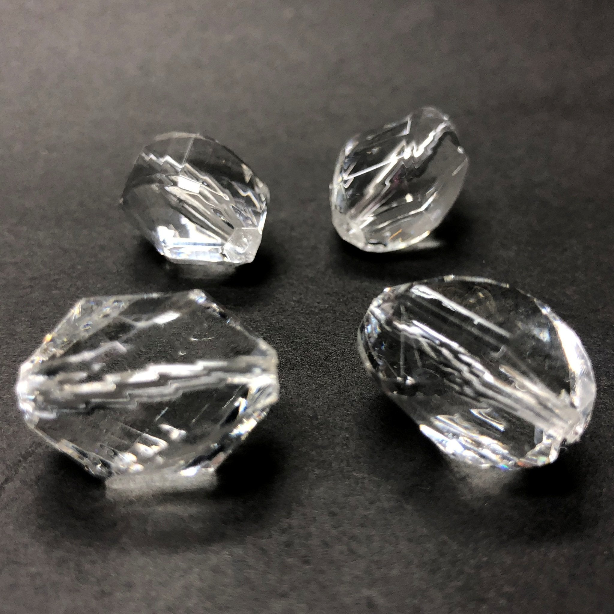 15X11MM Crystal Faceted Oval Acrylic Bead (72 pieces)