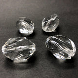 11X8MM Crystal Faceted Oval Acrylic Bead (72 pieces)