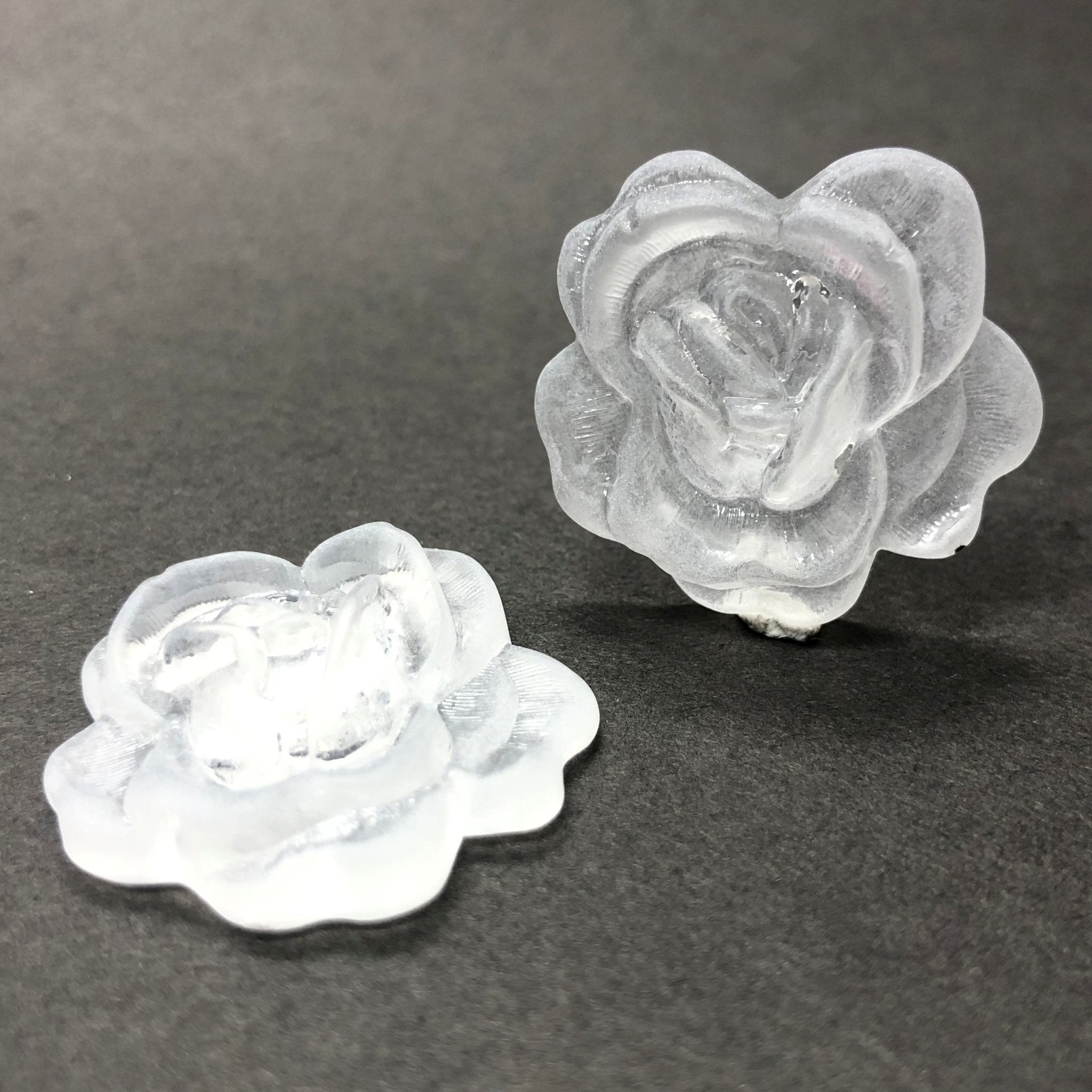 50MM Crystal Mat Acrylic Rose Flower Cab (12 pieces)