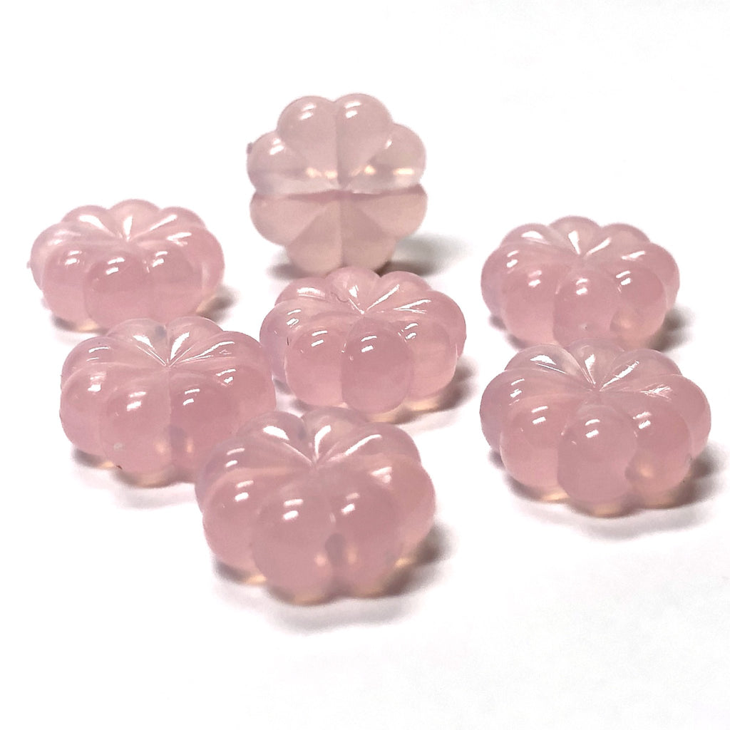 12MM Pink Opal Flower Acrylic Bead (36 pieces)