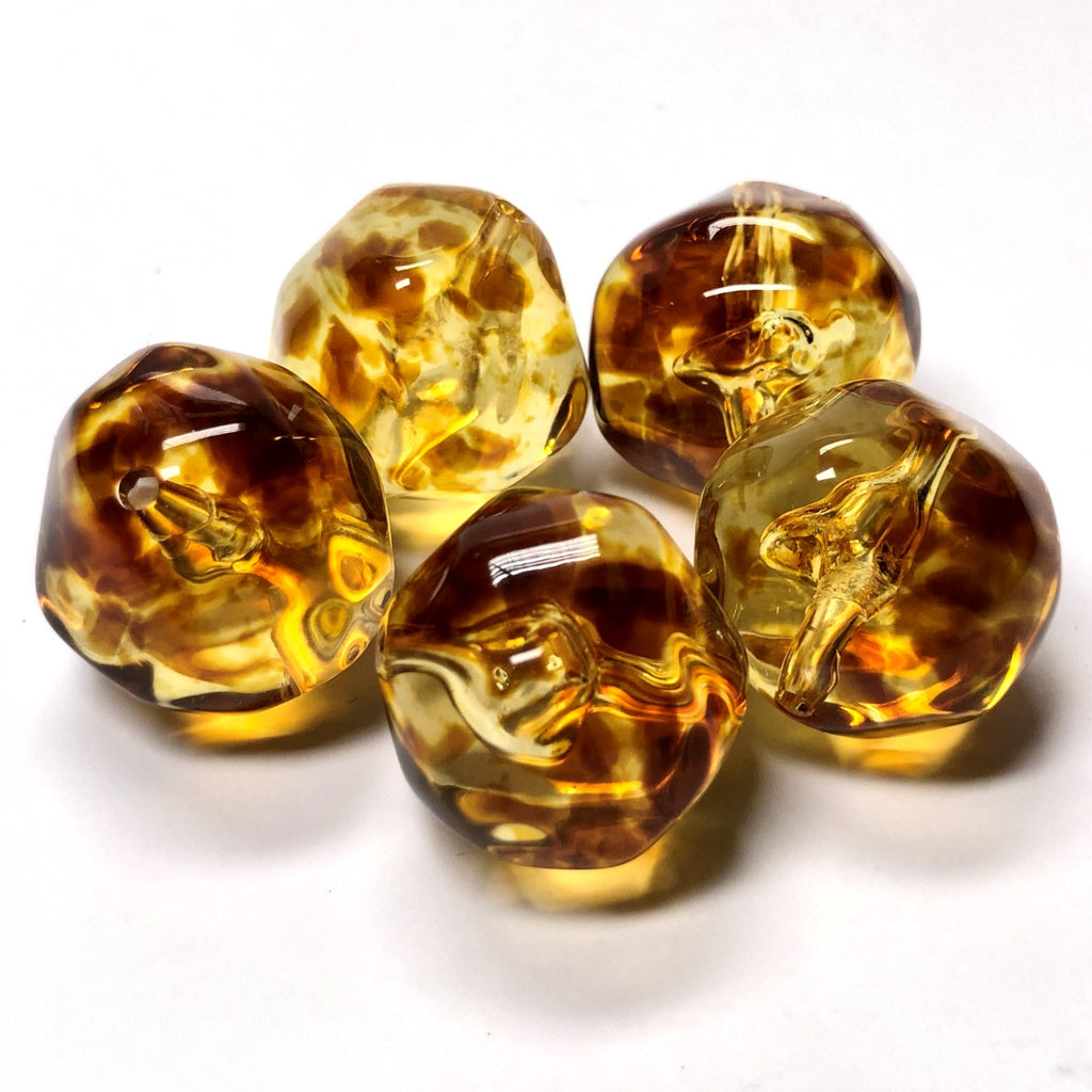 "16MM ""Amber"" Baroque Acrylic Beads (36 pieces)"