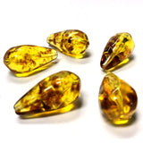 "24X13MM ""Amber"" Baroque Pear Acrylic Beads (24 pieces)"