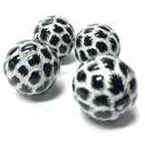 "22MM Black-White ""Leopard""Acrylic Bead (12 pieces)"